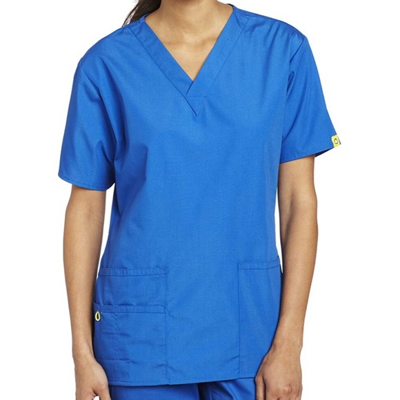 Wink Tops - NWT Scrub top // Royal Blue // Wink